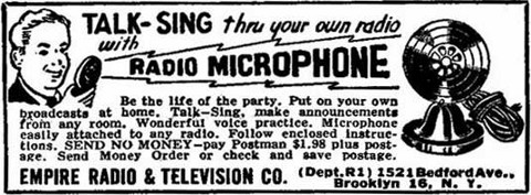 radio microphone 1955