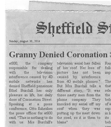 sheffield pensioner denied tv